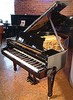 Steinway Model M Grand Piano For Sale with a black case and polyester finish