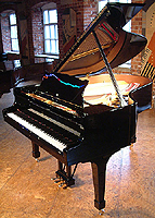 Steinway model O Grand Piano with a black polyester finish