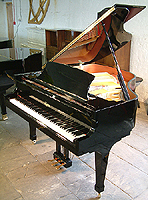 Boston 156 Grand Piano For Sale with a black case and polyester finish