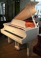 New Wendl & Lung Model 161 Professional grand piano For Sale with a white case and polyester finish