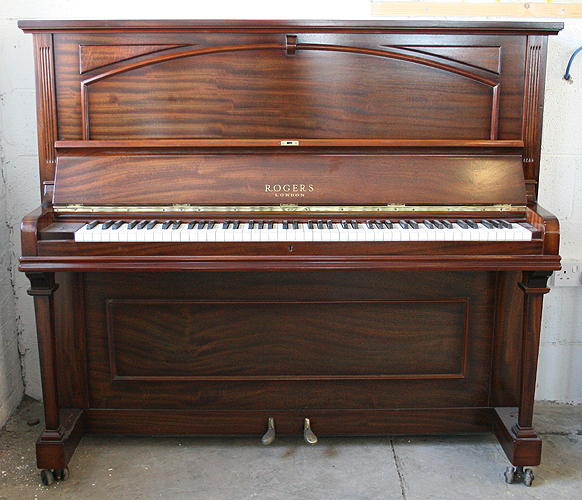rogers upright piano for salewith a polished mahogany case specialist piano dealer trader and. Black Bedroom Furniture Sets. Home Design Ideas