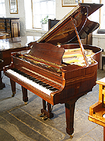Yamaha G2 Grand Piano  with a mahogany case and polyester finish