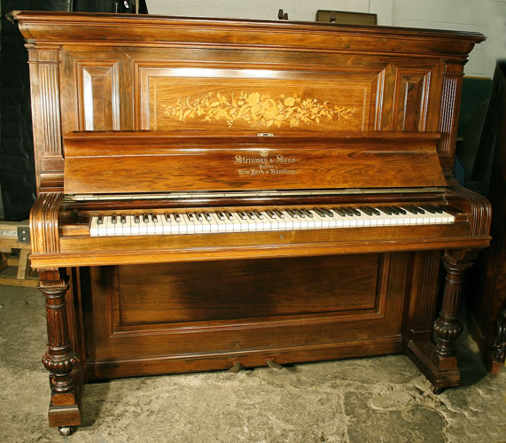 Antique Steinway Upright Piano For Sale With A Rosewood