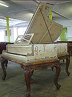 Artcase, Pleyel Grand Piano signed by Georges Meunier. Hand painted with monkeys, swags, urns and mythical creatures