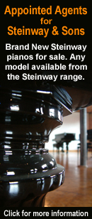 In Partnership with Steinway and Sons, BRAND NEW Steinway pianos for sale. Limited range available NOW in store. Any model available to order from the Steinway range. Click here for more details.