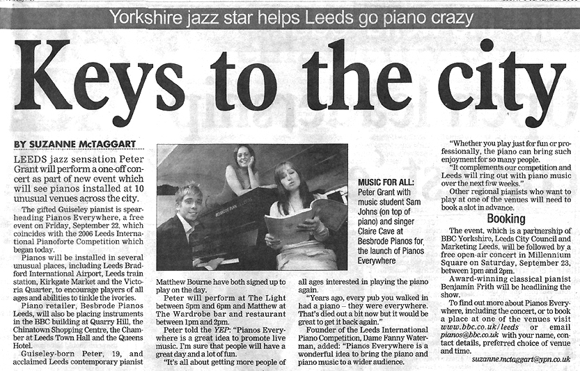 News Clipping - Keys to the city